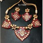 Kundan Meena Hand Painted Necklace Set