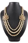 Kundan Meena Long Necklace Set