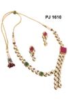 Kundan Meena Necklace Set