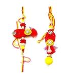 Designer Pair Lumba Rakhi Set for Bhaiya Bhabhi