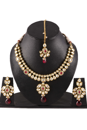 Kundan Meena Necklace Set