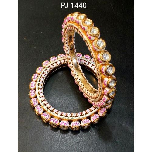 Kundan Meena Bangles (Size 2.4) Openable