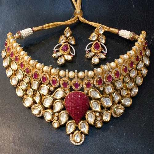 Kundan Meena High Quality Necklace Set