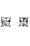 Cubic Zirconia 6mm Gold Plated Stud/Earring