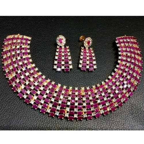 Cubic Zirconia Necklace / Choker Set