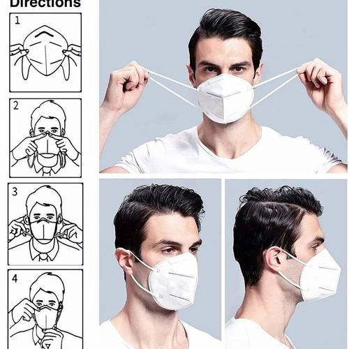 N95 White Mask , Washable and Reusable N95 Masks without Valve, Comfortable Stylish N95 6 Layer White Pcs Combo Pack for Men and Women