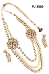 Kundan Meena Long Necklace Set