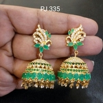 Cubic Zirconia Earrings / Jhumki
