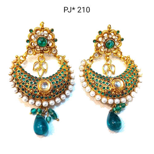 Golden Polki Earrings