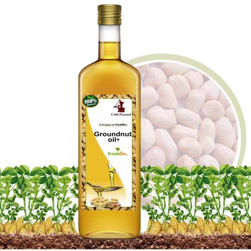 GROUNDNUT OIL+ Cold Pressed (ಕಡಲೆಕಾಯಿ ಎಣ್ಣೆ) - 750ml (Glass Bottle)