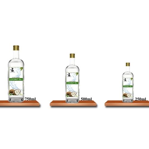 COCONUT OIL+ Cold Pressed  (ತೆಂಗಿನ ಎಣ್ಣೆ) - 750ml (Glass Bottle)