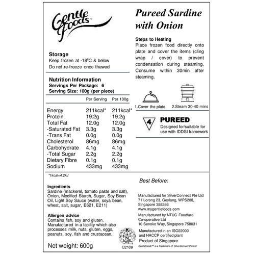 Puréed Sardine with Onion - 6 pcs