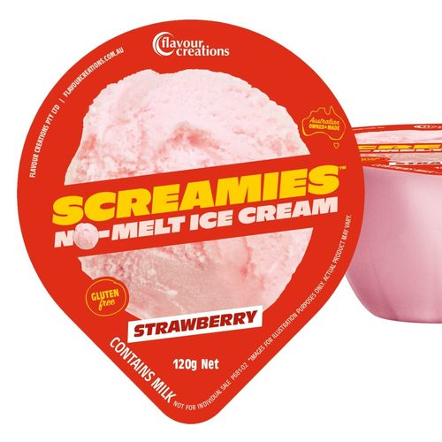 Screamies Strawberry No Melt Ice Cream