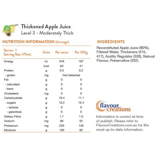 Apple Juice Level 3 Moderately Thick 400 - Honey Thick