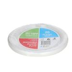 10 MC 10PP White Plastic Plate 塑料盘白