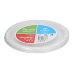 9 MC 9PP White Plastic Plate 塑料盘白