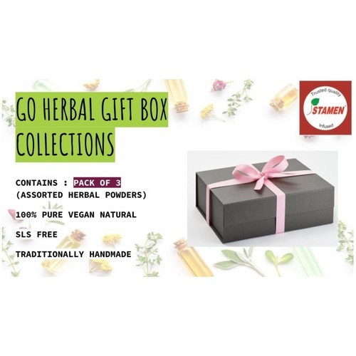 Go Herbal Gift Box Collection - Pack of 3 - Assorted Herbal Powders