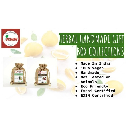 Herbal Handmade Gift Box - Pack of 6 - Assorted Shampoo Bar