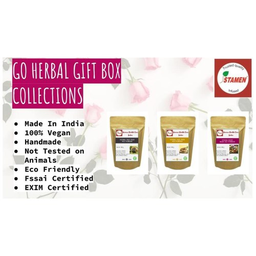 Go Herbal Complete Herbal Care Kit  - Pack of 3 - Hair Pack, Face Pack, Body Pack