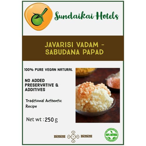 Javarisi Vadam - Sabudanan Papad - Sago Papad