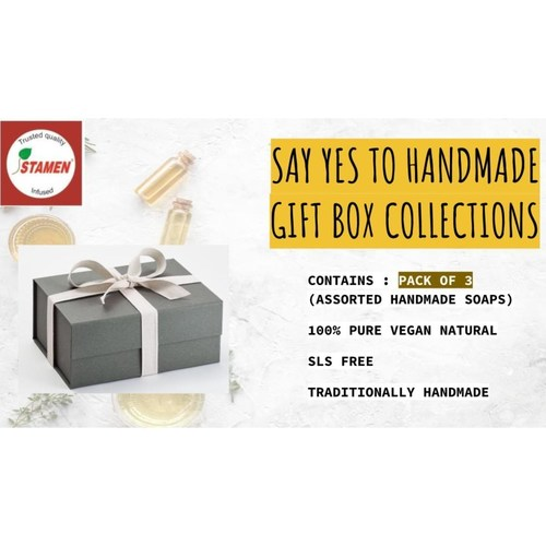 Say Yes To Handmade Gift Box - Pack Of 3 - Assorted Herbal Soap