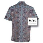 MEN'S SHORT SLEEVES DISCHARGE BATEK SHIRT - BM05 - GREEN MUSTARD