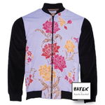 BOMBER JACKET TEENAGER - JF01 - LILAC PINK FLOWER