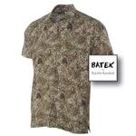 MEN'S SHORT SLEEVES DISCHARGE BATEK SHIRT - BM02 - GREEN