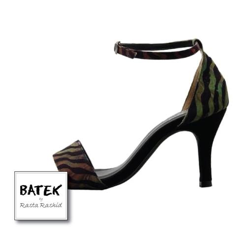 BATEK LOW HEELS - BA02 - PEEP TOES SHOES WILD GREEN
