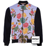 BOMBER JACKET TEENAGER - JF03 - LILAC YELLOW FLOWER