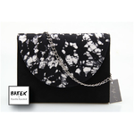 CLUCTH BLACK & WHITE CRACK SMALL - HS03