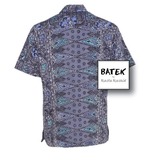 MEN'S SHORT SLEEVES DISCHARGE BATEK SHIRT - BM03 - GREY LILAC