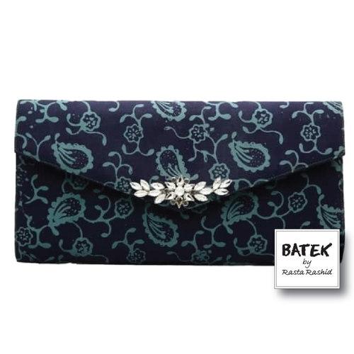 BATEK WOMEN'S CLUTCH  - FS02 - MIDNIGHT BLOOM