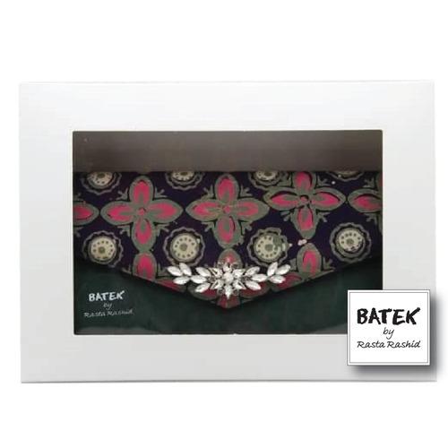 BATEK WOMEN'S CLUTCH - FS01 - GREEN FLORAL KAWUNG