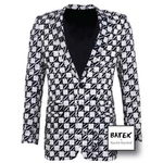 MEN'S JACKET SINGLE BREASTED - FM02 - BLACK AND WHITE