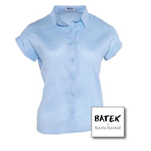 Linen Women's Top - IF03 - BLUE