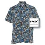 MEN'S SHORT SLEEVES DISCHARGE BATEK SHIRT - BM07 - DUSTY GREEN