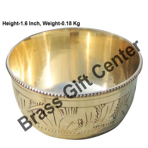 Brass Bowl Katori - 3.53.51.6 Inch  Z151 C