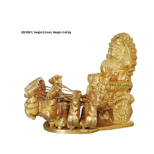 Brass Surya Dev Rath Statue Murti idol 465 gm - 3.532.8 inch  BS1059 C