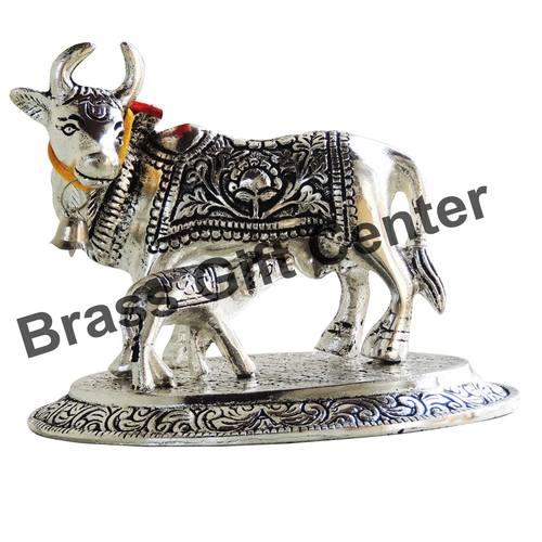 Gaye Bachdha Cow With Calf Statue - 4.4 Inch (AS073 S)