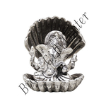 Ganeshji in seep with silver antiquefinish- 4 Inch AS190 S