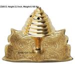 Brass Agarbatti Stand Plate Square - 2.7*2.7 Inch  (Z205 D)
