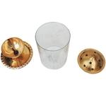 Brass Akand Deiya Deepak With Chinney - 6.3 inch (Z014/10)