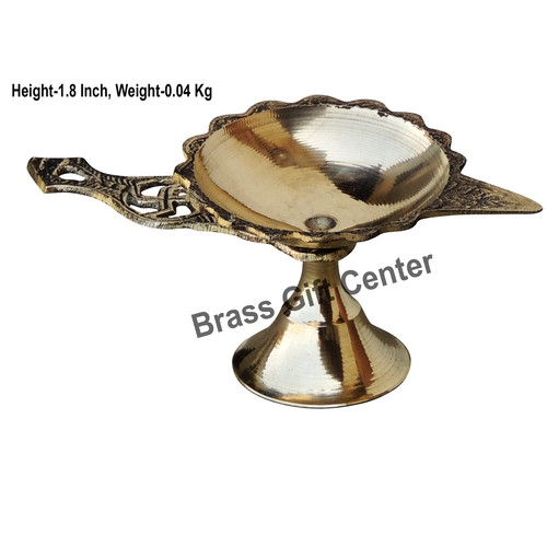 Brass Swastic Diya Deepak - 4.4*2.1*1.8 Inch  (Z144 C)