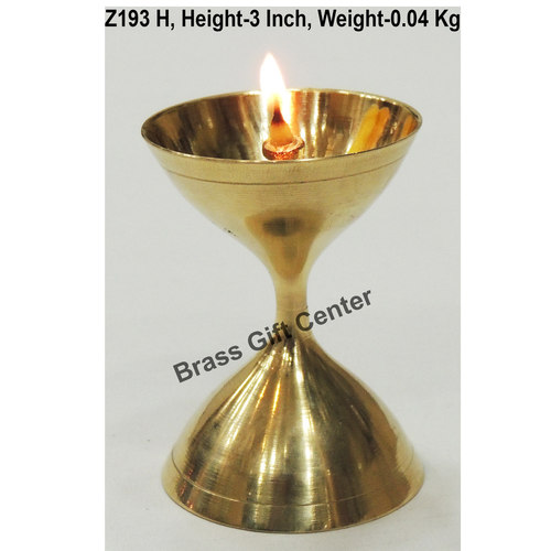 Brass Akand Diya Deepak No. 8 - 2*2*3 Inch  (Z193 H)