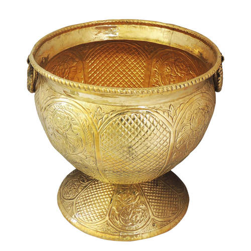 Brass Planter with Base - 17*17*17 inch (F597 E)