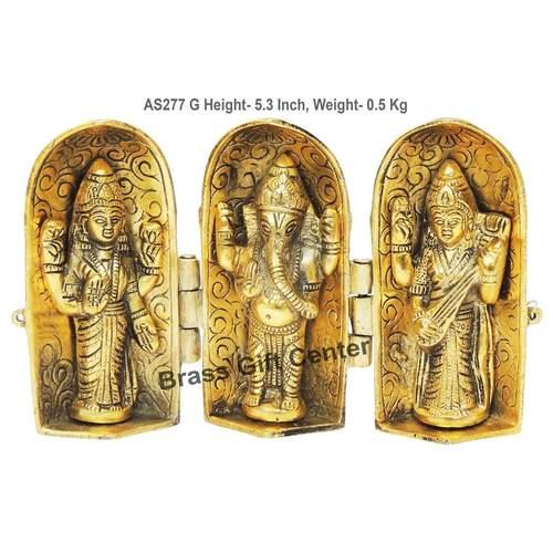 Laxmi Ganesh Saraswati Folding - 8.51.55.3 Inch  AS277 G