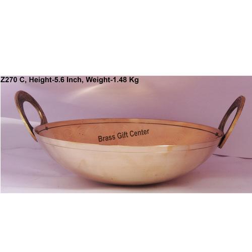 Brass Kadai 1.75 liter - 10.5x10.5 Inch  Z270 C
