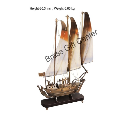 Brass Ship In Antique Lacquer finish - 30.3 Inch MR172 D