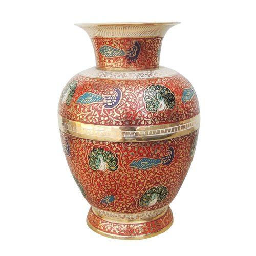Brass Flower vase pot - 10.5 inch  (F454 B)